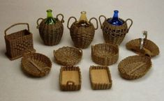 Uncle Ciggie's Miniatures, Handcrafted dollhouse miniature wicker furniture