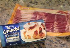 Ingredients for Bacon Cinnamon Rolls