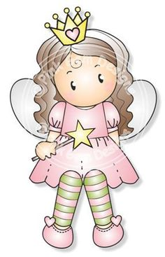 Digital Digi Fairy Chloe Stamp by PinkGemDesigns on Etsy, $2.70