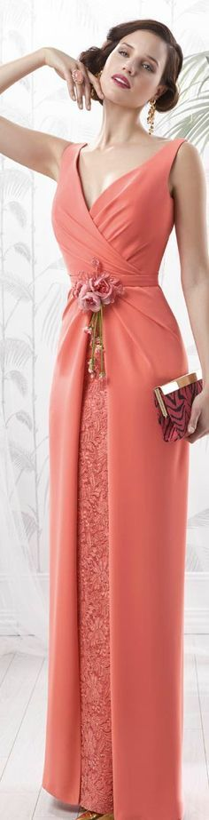 a beautiful Spring coral Beautiful Gowns, Beautiful Outfits, Cool Outfits, Bridesmaid Dresses, Prom Dresses, Formal Dresses, Occasion Dresses, Pretty Dresses, Runway Fashion
