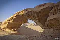 Wadi Rum rock bridge