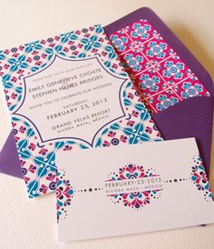 Invitations « Lizzy B Loves | Unique Paper Ephemera – Wedding Invitations, Mexican Wedding Invitations, Wedding Stationery
