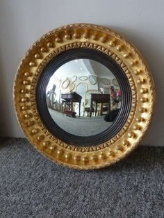 this convex mirror is beautiful! www.annabellesgiltshop.co.uk