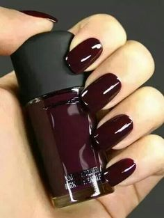 MAC mani. This color is just right for fall!