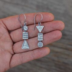 The life so short, the craft so long to learn. . – Hippocrates . Combine Earrings 6. Handmade with recycled sterling silver. Soon in my online shop.