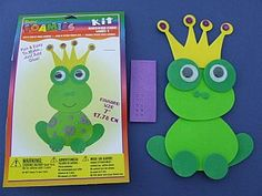 Foamies Kit - Frog Prince, Themed Crafts for Kids, Princess & Fairytale Crafts, childrens crafts, children's craft supplies