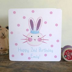 personalised bunny rabbit card by moobaacluck | notonthehighstreet.com