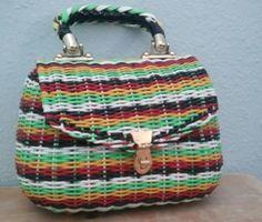 vintage basket weave purse handbag British Hong Kong