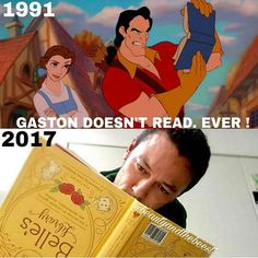 I have a feeling Gaston would be a fan of audio books! Credit: @beautyandthebeest