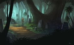 Forest speedpainting by ~Timooon on deviantART