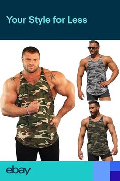 Mens Stringer Bodybuilding Fitness Muscle Workout Gym Tank Top Singlet T  Shirt 8776faa9ad1