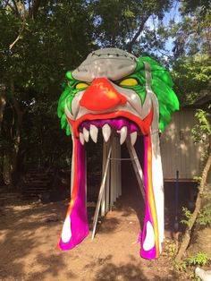 Clown Facade entrance for RedRum Haunt / made by Legacy 3D FX