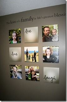 Basement or hallway wall .. family pictures on canvas (gallery wrap)