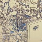 "James Jean ""Pagoda"" detail at Long Beach Museum of Art http://instagram.com/typo_graphical"