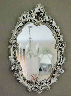 Rococo Style Oval Mirror. Love this.
