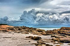 Unusual for a Florida beach, scattered coquina rocks are found along the coast at Washington Oaks State Park.