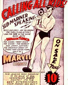 """I'm all shook up uh-huh-huh""  1940's house ad for ""Marvel Mystery Comics"" featuring #Namor aka the #SubMariner.  #comicbookads by comicbook_ads #rolex #submariner"