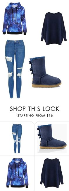 """""""blue is back"""" by aandre-va on Polyvore featuring Topshop, UGG Australia and Paisie"""