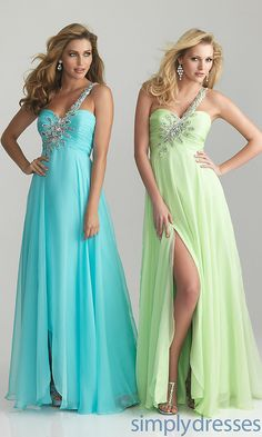 One Shoulder Prom Dresses, Night Moves Prom Gown - Simply Dresses