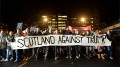 Fresh Scottish protest to be held against Donald Trump - BBC News