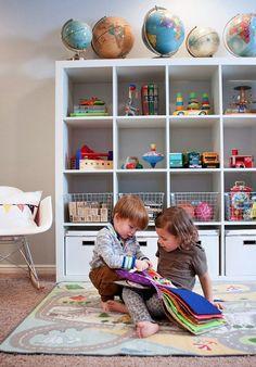 organized kids playroom