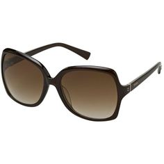 Brown Oversize Polarized Sunglasses ($47) ❤ liked on Polyvore