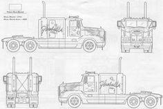 Rsultat de recherche dimages pour blueprint truck blueprint image result for freightliner blueprints malvernweather Image collections