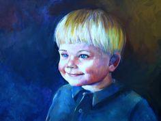 Erick 13 x 17 oil painting on masonite.  It's a work in progress.  Oil Portrait