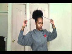 Surprising Natural Hair Puff Natural Hair Pinterest Naturlig Har Og Hairstyles For Women Draintrainus