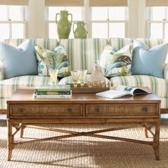 Tommy Bahama by Lexington Home Brands Beach House Ponte Vedra Rectangular Golden Umber Wood Cocktail Table - Coffee Tables at Hayneedle