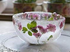 Delicate roses in ice captivity. Icy pink vase | Fair Masters - handmade, handmade