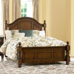 @Overstock - An updated take on classic country style, the Kirkby bed blends perfectly into your cozy bedroom. Cannonball finials top the bed posts, while distinct framing adds to the classic design of the bed.http://www.overstock.com/Home-Garden/Kirkby-Queen-size-Bed/6706311/product.html?CID=214117 $658.99