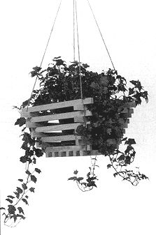 Easy Woodworking Plan: Hanging Plant Holder