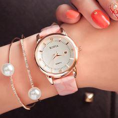 Fashion Waterproof Wrist Diamond Calendar Quartz Cortical Women