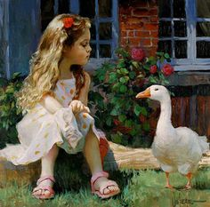 Vladimir Volegov is one among the best Russian artists of all the times. He was born in Russia and he started to paint at the age of three. Painting Of Girl, Figure Painting, Vladimir Volegov, Adorable Petite Fille, Creation Photo, Animation, Ansel Adams, Belle Photo, Oeuvre D'art