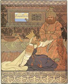 Билибин И. Я. Иллюстрация к былине «Вольга». Царь и Царица