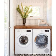 This laundry room brings so much JOY. Not necessarily a natural pairing but so true here. � My own laundry room doesn't hold a candle to this one. #bannerdaysf :@vivianjohnsonphoto