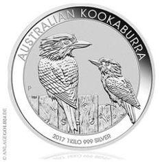 Kilo Kookaburra 2017 Silbermünze aus 1kg Silber - Australien