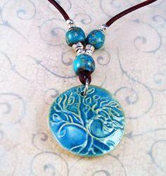 Boho Picassos Bead Ceramic Cornflower Blue by RoEnchantedDesigns, $25.00