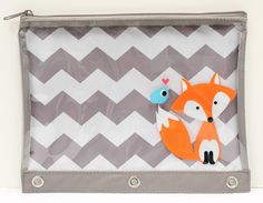 Studio C Foxy & Hoot binder pouch available at @walmart  stores nationwide! #backtoschool #chevron #fox #backtoschoolwithStudioC