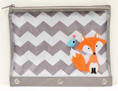 Studio C Foxy & Hoot binder pouch available at @walmart  stores nationwide! #backtoschool #chevron #fox #backtoschoolwithStudioC