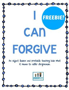 An Object Lesson in Forgiveness for Kids! www.RaisingBoysHomeschool.com