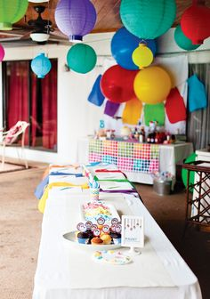 Bright & Colorful Painting Birthday Party