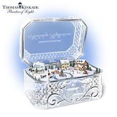 Thomas Kinkade Animated Crystal Holiday Music Box. $99.96