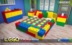 Lunararc Sims: Lego Bedroom Set • Sims 4 Downloads
