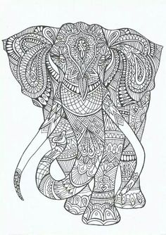 #coloringpage #coloring #elephant @ines_fonseca88