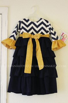 Hey, I found this really awesome Etsy listing at https://www.etsy.com/listing/203256189/lilly-anna-kids-navy-mustard-ruffled