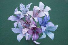 Bride origami bouquet