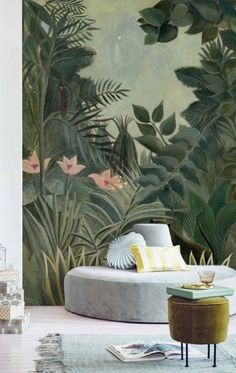 Peel and Stick Wallpaper Leaves, Jungle Wallpaper Kids, Removable Tropical Leaf Wallpaper Mural, Tropical Wall Mural Wallpaper Jungle - Healty fitness home cleaning Old Wallpaper, Self Adhesive Wallpaper, Peel And Stick Wallpaper, Wallpaper Jungle, Flower Wallpaper, Design Textile, Washable Paint, Focal Wall, Thing 1