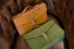 http://chicerman.com  doublemonk:  Briefcases by Edward Green.  #menshoes